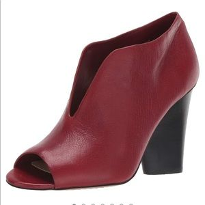 Vince Camuto Dark Red Andrita Ankle Boots 6 NEW